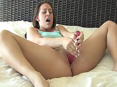 Gracie fucks her new dildo