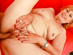 Red head grany takes a break from the cane and gets fucked